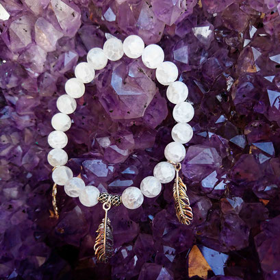 Dream gemstone beads bracelet with 925 sterling silver made by BeHero