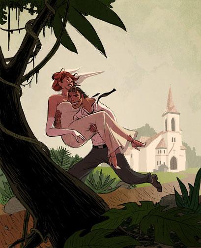 Aufmacher-Illustration - Thema: Heiraten, das letzte Abenteuer - Magazin: Playboy