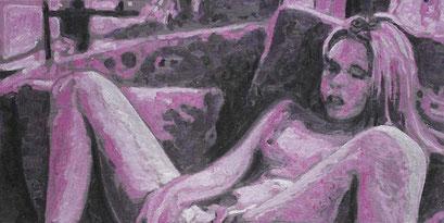 Laurent Gugli-Little Trip 80x40 cm Acrylique sur toile