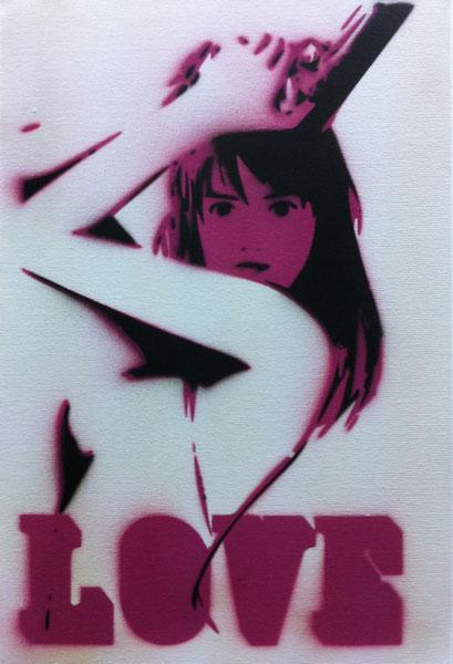 Laurent Gugli-LoveLove-Stencil/canvas