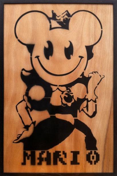 Laurent Gugli Daisy Princess Spray Paint CP 75x50 cm