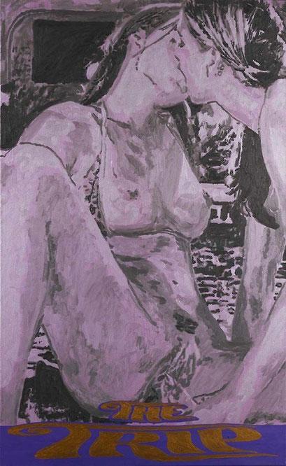 Laurent Gugli-Kiss One 146x89 cm Acrylique sur toile