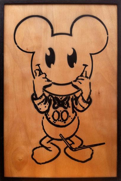Laurent Gugli Miss Donald Spray Paint CP 75x50 cm