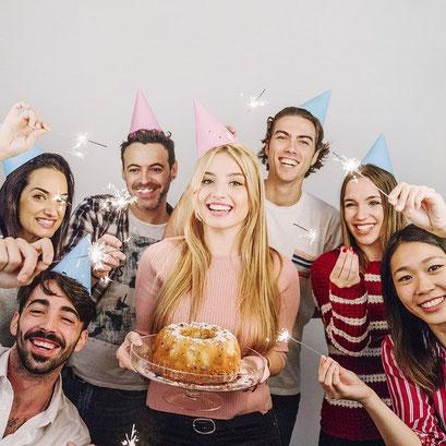 Geburtstagsfeier in Halle
