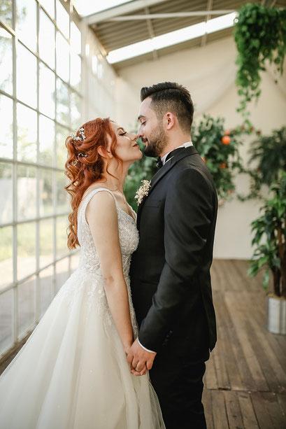 Hochzeitsfeier mit einer Photobooth