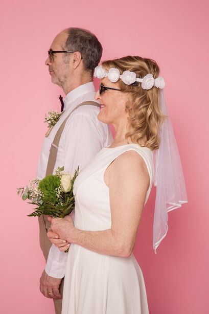 Couple in front of our photobooth