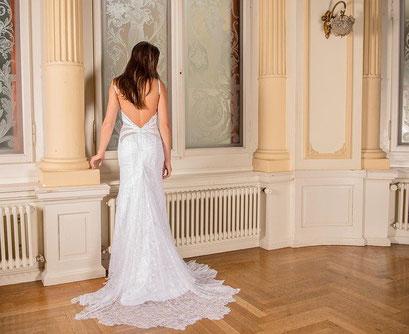 Hochzeitskleid auf einer Hochzeit in Bad Kissingen