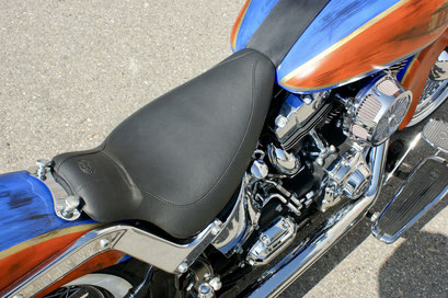 Harley Davdison Softail Deluxe Chicano with Mustang Seat