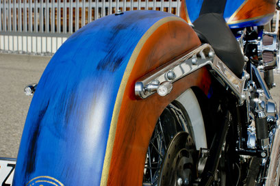 Harley Davdison Softail Deluxe Chicano with Rizoma
