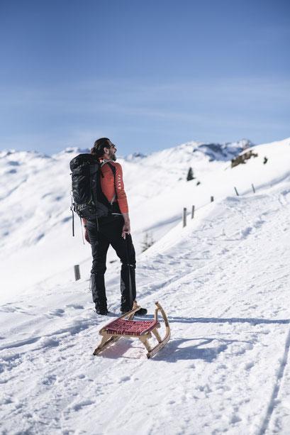 Rodeln im März in Tirol - 8 hochalpine Rodelbahnen mit Schneesicherheit (Zillertal, Rastkogelhütte)