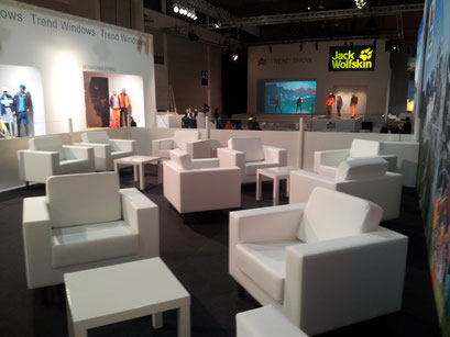 Lounge auf der OutDoor 2014 - Messe Friedrichshafen