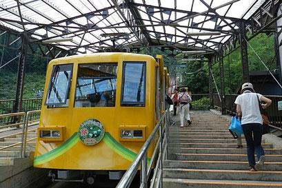ケーブルカー(日ノ出号)で御岳山駅へ