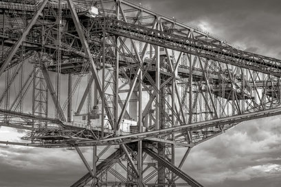 Stahlkonstruktion der Abraumförderbrücke F60