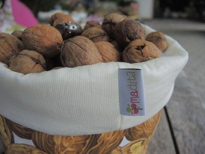 Stofftasche für Obst oder Nussen