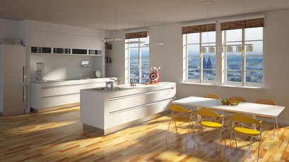 Innenraum Kochen/Essen 3D-Visualisierung