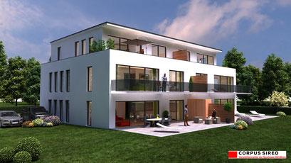 Mehrfamilienhaus 3D-Visualisierung