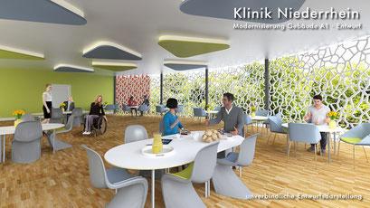 Innenraum Cafeterria 3D-Visualisierung