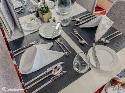 Unser Tisch im Hauptrestaurant der ALBERTINA