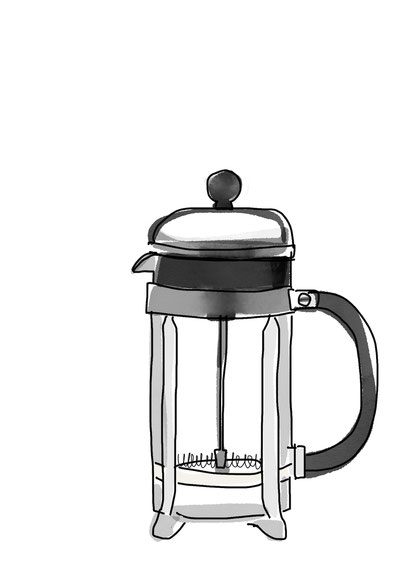 Coffee Postkarte FRENCH PRESS
