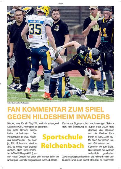 - 08.07.2017 - Fotoveröffentlichungen Teil 1 | Stadion-Magazin BERLIN ADLER  Matchday vs. Kiel Baltic Hurricanes