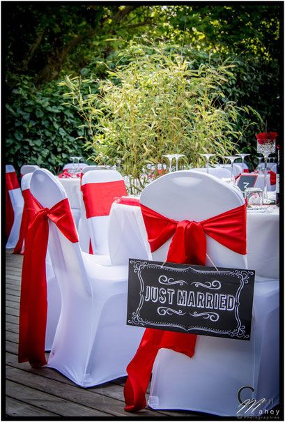 table des mariés just married