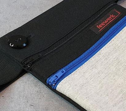 Hüfttasche, Bauchtasche, Grau, Blau,