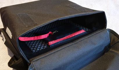Gepäckträgertasche, Packtasche, Doppel, Fahrrad, feewerk, Innenfach, Reißverschluss, Schlüsselfinder, Schlüsselkarabnier,