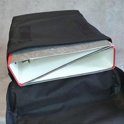 Gepäckträgertasche, Packtasche, doppel, innen