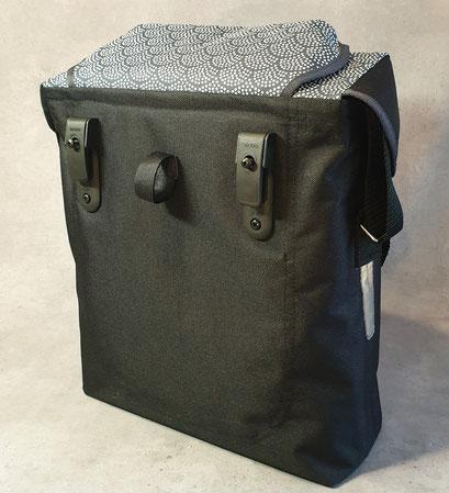 Gepäckträgertasche, Kleiner Karl, Fächer, blau,