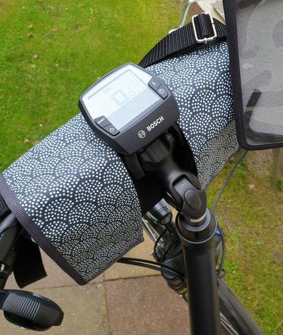E-Bike Lenkertasche, Fächer blau,