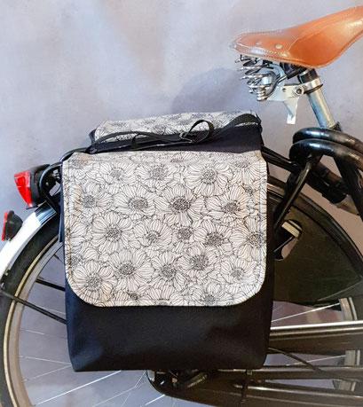 Gepäckträgertasche, Packtasche, Doppel, Fahrrad, feewerk