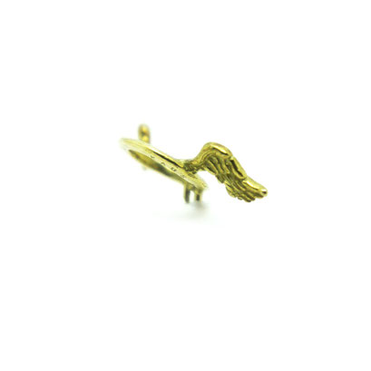 angel ring material : BRASS color :  Polished size : 7mm x 33mm x 9mm