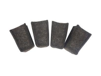 manufra Stuhlbeinsocke braun meliert für konische Stuhlbeine