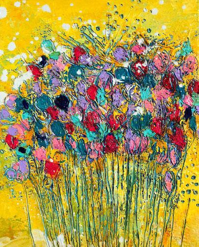 伊藤 由華 「初恋」 18.0×14.0cm キャンバスに、アクリル、油彩