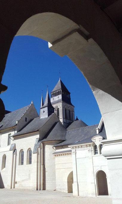 Une vue de l'immense abbaye de Fontevraud (Photo CLR)