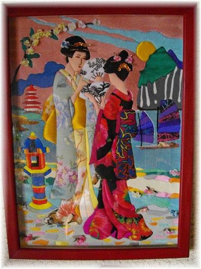 C 1g  Les japonnaises en tissu et sables