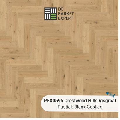 PEX4595 Crestwood Hills Visgraat Rustiek Blank Geolied