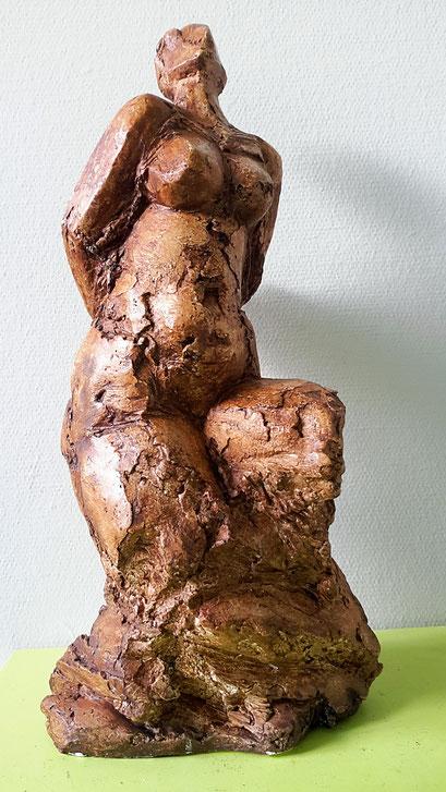 Vogelvrouw - gips - 41 x 18 x 18 cm