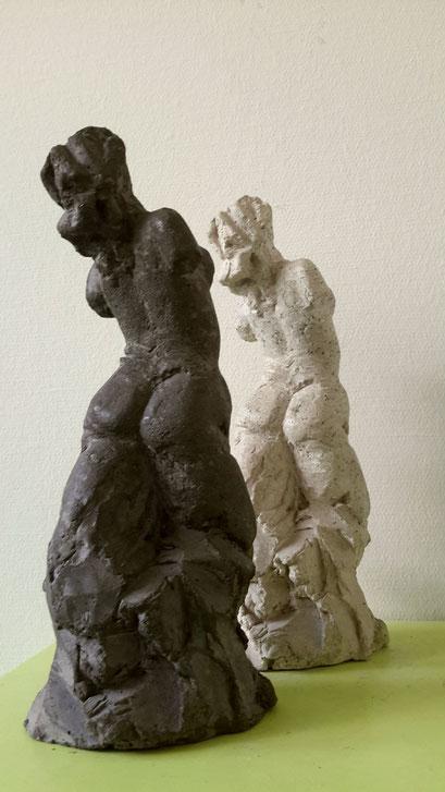 Fier (2x) - aluminiumcement/granito - 31 x 11 x 10 cm