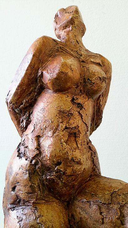 Vogelvrouw (detail) - gips - 41 x 18 - 18 cm
