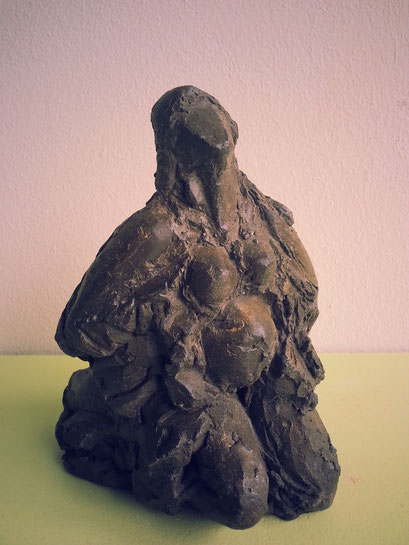 Dubbelbeeld (achterkant) - 19 x 12 x 15 cm