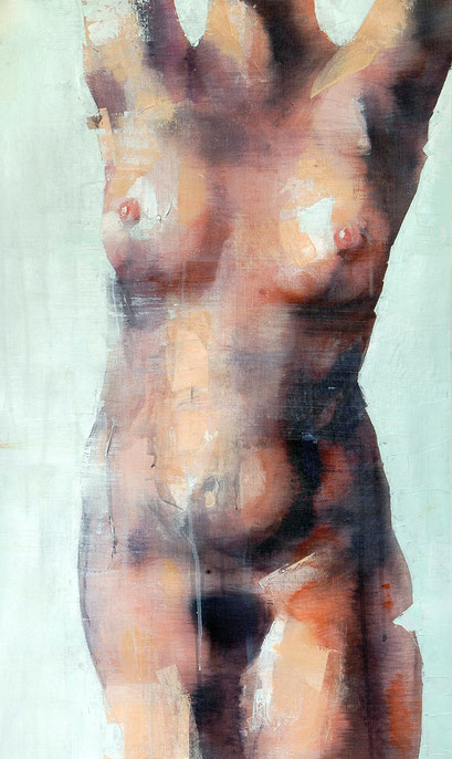 SOLD - She Wants to Move - acrylic on canvas 40x68cm