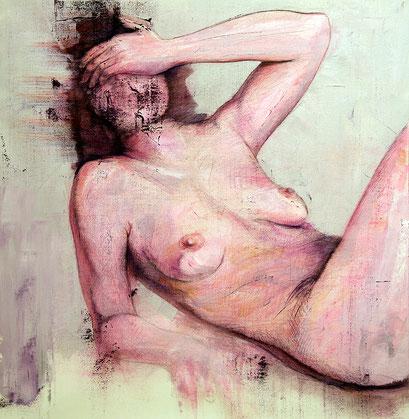 "AVAILABLE - ""human aerodynamic 12"" - acrylic on canvas 70x72cm - contact me"