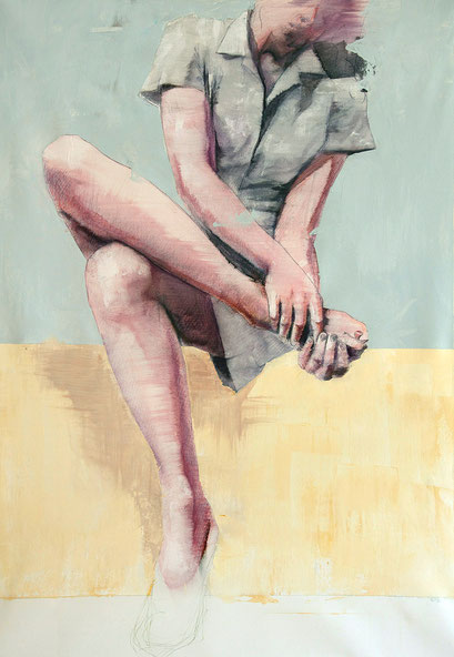 "SOLD - ""human aerodynamic 9"" - acrylic on canvas 65x93 cm"