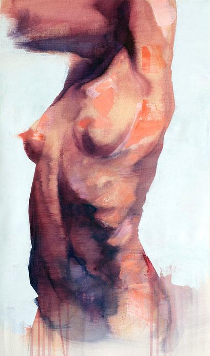 "SOLD - ""Natural Aerodynamic"" - acrylic on canvas 40x68cm"