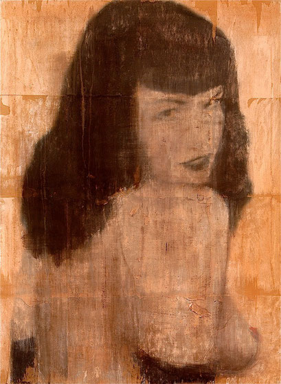 AVAILABLE - Bettie 4 - Acrylic on scratched double paper - 82x112cm - contact me
