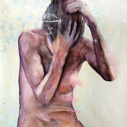 "SOLD - ""Human aerodynamic 17"" - acrylic on canvas 70x70cm - contact me"