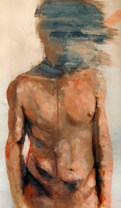 "SOLD - ""human aerodynamic 2"" - acrylic on canvas 40x68cm - contact me"