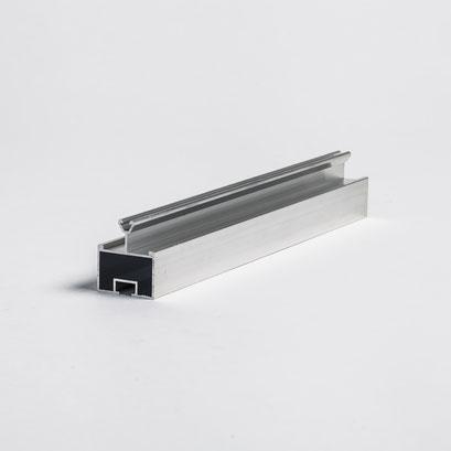 Rohrprofile für fachgerechte Befestigung der Glasscheiben
