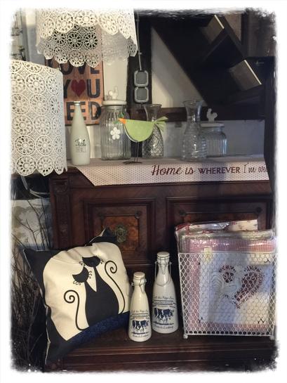 Kissen, Flasche, Vorratsglas, Clayre & Eef, Landhaus Stil, Shabby Chic, Vintage, Landhaus Dekoration mit Charme